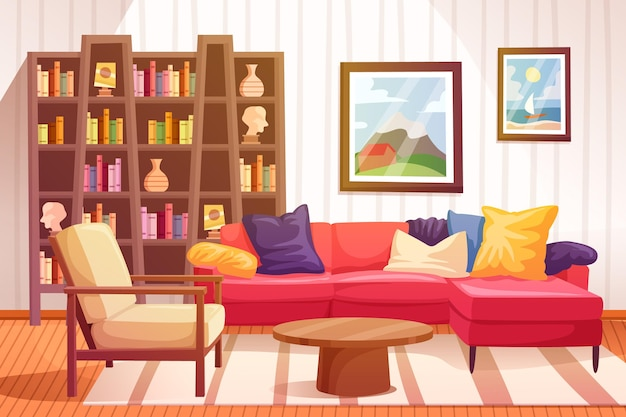 Huis interieurontwerp als achtergrond