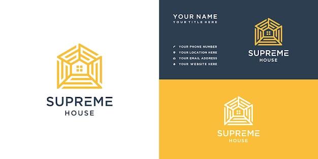 Huis letter s logo ontwerp