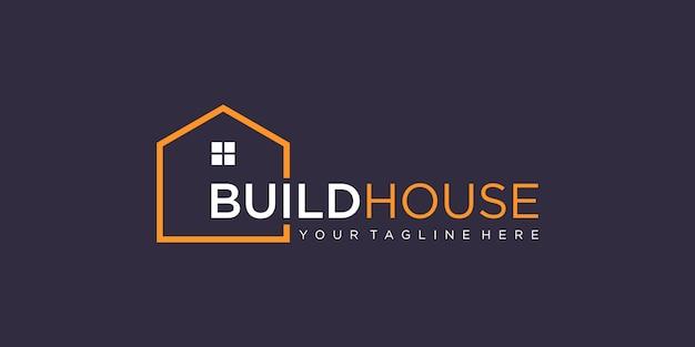 Huis logo bouwen