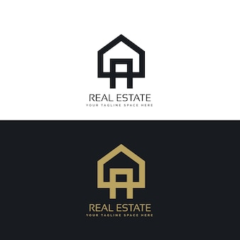 Huis logo design in schone minimalistische stijl