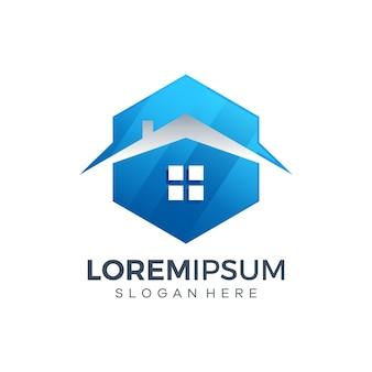 Huis logo ontwerp