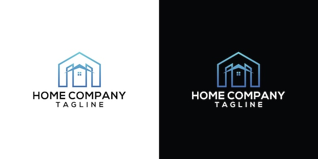 Huis logo sjabloonontwerp