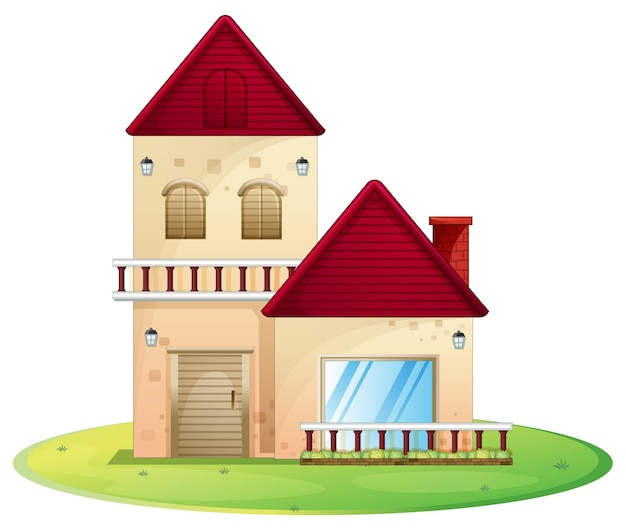 Huis met groen gras
