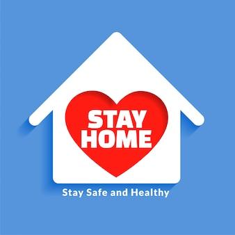 Huis met hart voor verblijf thuis conceptontwerp