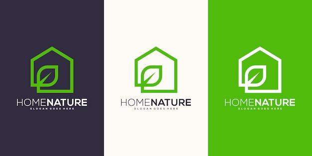Huis natuur logo ontwerp