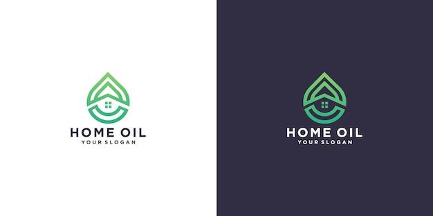 Huis olie logo ontwerp