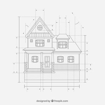 Huis ontwerpplannen