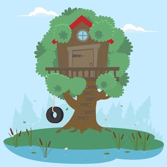 Huis op boom voor kinderen