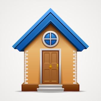 Huis pictogram geïsoleerd op een witte achtergrond.
