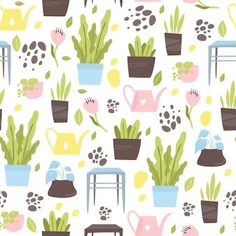 Huis planten patroon