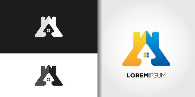 Huis residentie logo set