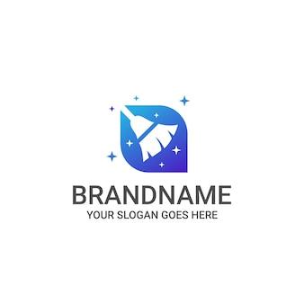 Huis schoonmaak logo