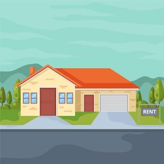 Huis te huur illustratie