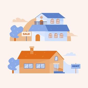 Huis te koop / huur concept