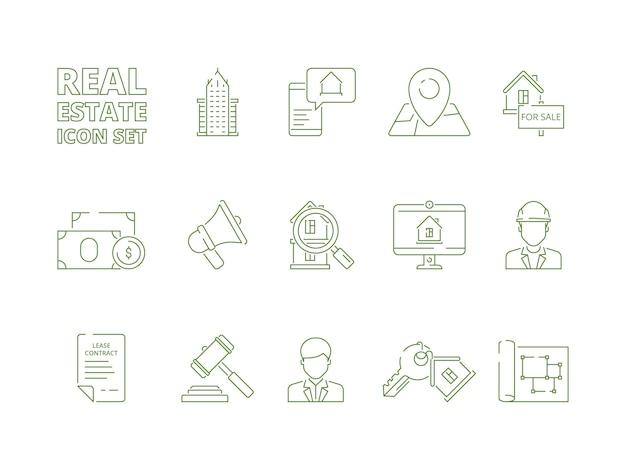 Huis te koop icons set