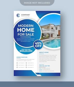 Huis te koop onroerend goed flyer ontwerp digitale marketing instagram post