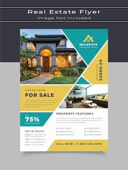 Huis te koop onroerend goed flyer sjabloon