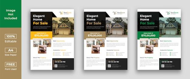 Huis te koop onroerend goed flyer