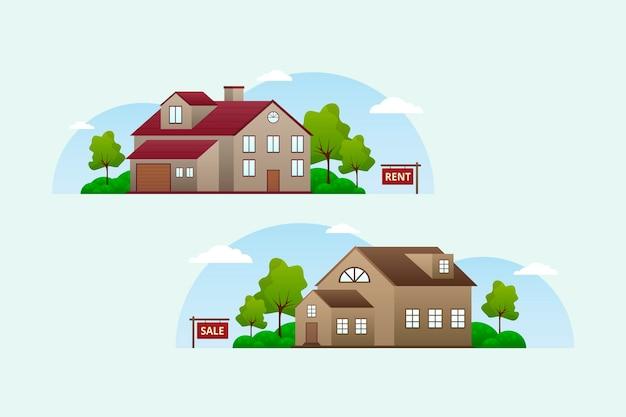 Huis te koop ontwerp