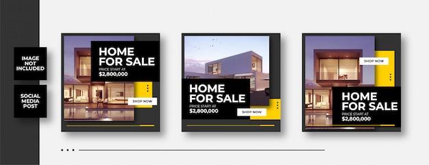 Huis te koop sociale media banner