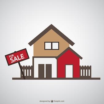 Huis te koop vector