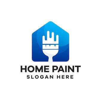 Huis verf verloop logo ontwerp