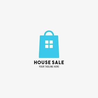 Huis verkoop vlakke stijl ontwerp symbool logo illustratie sjabloon