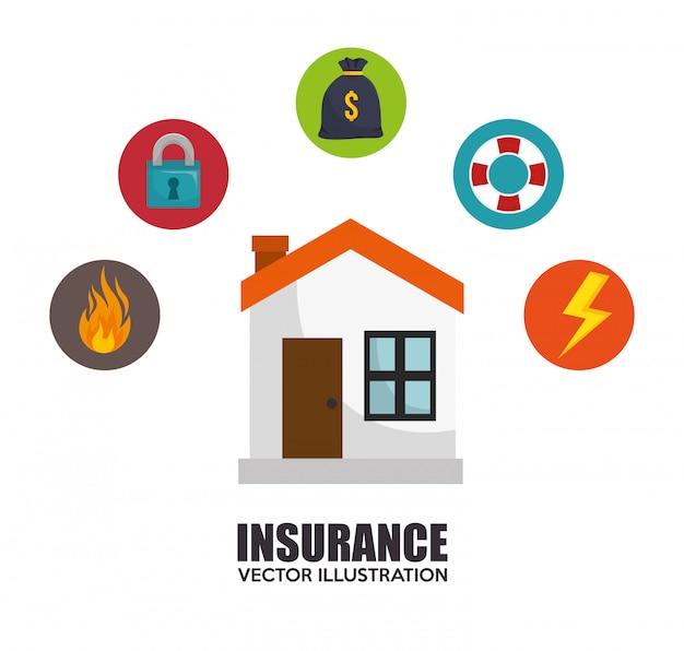 Huis verzekering bescherming ontwerp