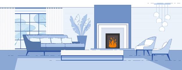 Huis woonkamer comfortabel interieur