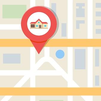 Huis zoeken vectorillustratie, onroerend goed concept.