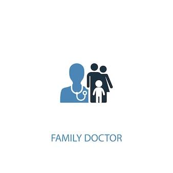 Huisarts concept 2 gekleurd icoon. eenvoudige blauwe elementenillustratie. huisarts concept symbool ontwerp. kan worden gebruikt voor web- en mobiele ui/ux