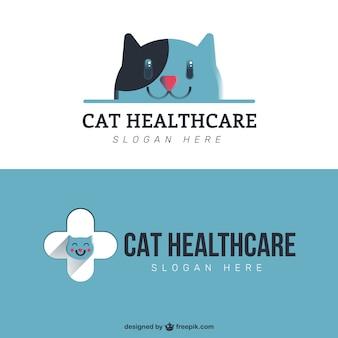 Huisdier gezondheidszorg logo template