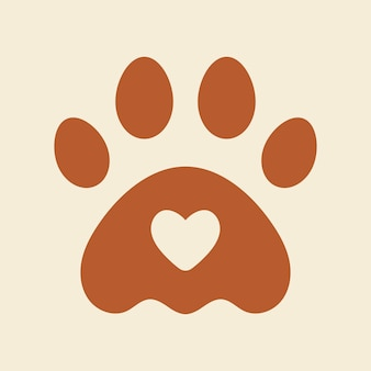 Huisdier logo ontwerp poot, vector voor dierenwinkel bedrijf