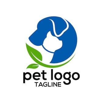 Huisdier logo ontwerpsjabloon