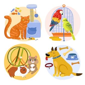 Huisdieren ontwerpconcept