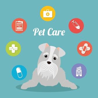 Huisdieren zorgcentrum service pictogrammen
