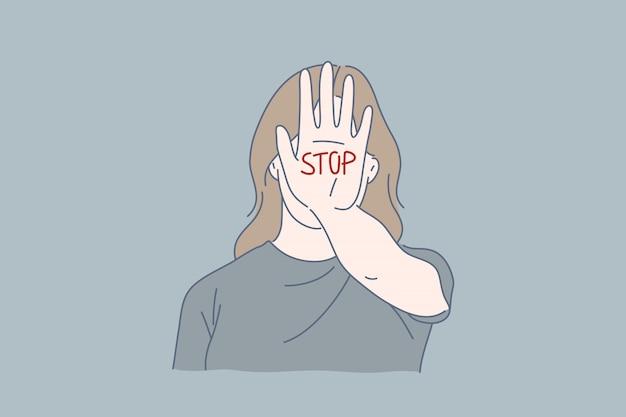 Huiselijk geweld, alcoholisme, afranselingen, bedreigingsconcept.