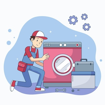Huishoud- en renovatieberoepen met de mens