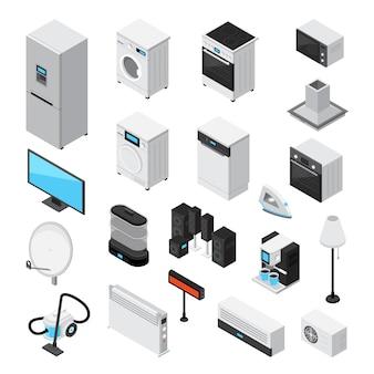 Huishoudapparaten isometrische set
