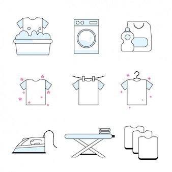 Huishoudelijk werk pictogrammen collectie