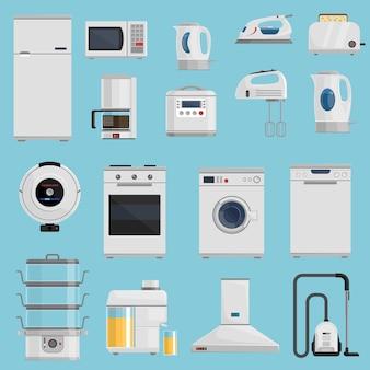 Huishoudelijke apparaten icons set