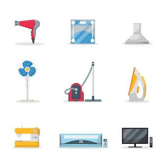 Huishoudelijke apparaten ingesteld