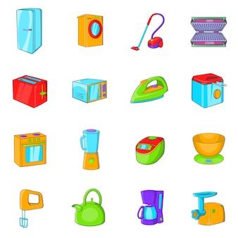 Huishoudelijke apparaten pictogrammen instellen
