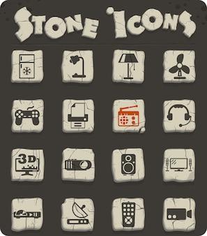 Huishoudelijke apparaten vector iconen voor web en gebruikersinterface ontwerp