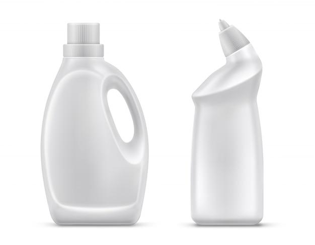 Huishoudelijke chemie flessen geïsoleerd vector
