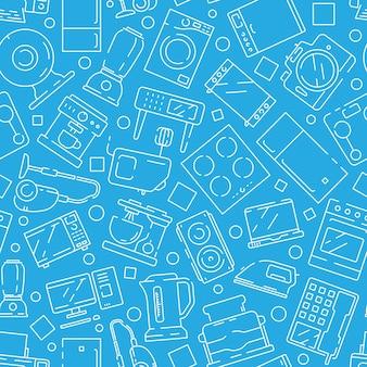 Huishoudelijke elektronica naadloze patroon