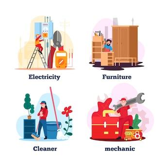 Huishoudelijke herroeping en schoonmaak