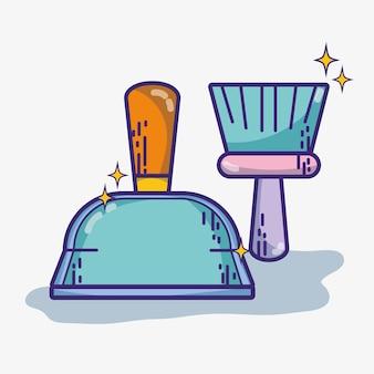 Huishoudelijke hygiëneservice om huis schoon te maken