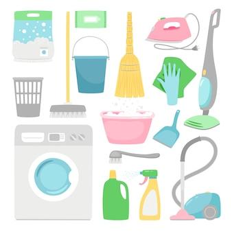 Huishoudelijke schoonmaak.