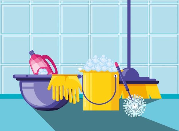 Huishoudhulpmiddelen met vastgestelde pictogrammen